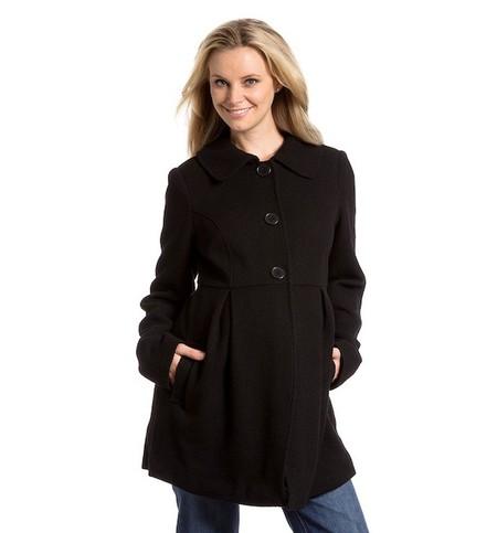 abrigo embarazo negro