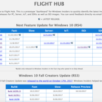 Flight Hub es la web habilitada por Microsoft para ayudarnos a encontrar las últimas builds lanzadas en Windows 10
