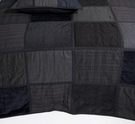 Colcha negra textura