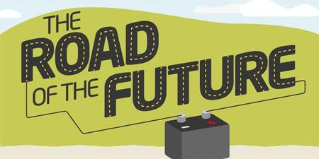 Pinturas dinámicas, nuevos materiales y asfalto antideslizante en una interesante infografía sobre las carreteras del futuro