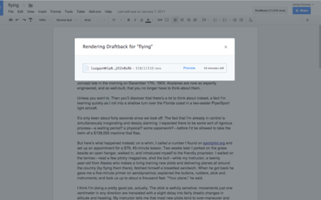 Draftback nos demuestra de la mejor forma todos los cambios que guarda Google Drive de nuestros documentos