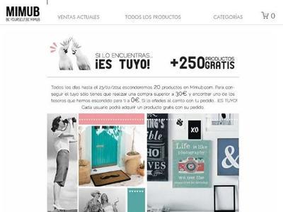 La búsqueda del tesoro en Mimub, con 250 productos gratis, si los encuentras