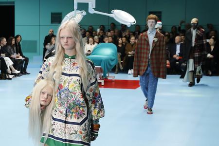 Las cabezas de Gucci no le han hecho gracia a Armani (que rompe con la tradición de callar ante los desfiles de la competencia)