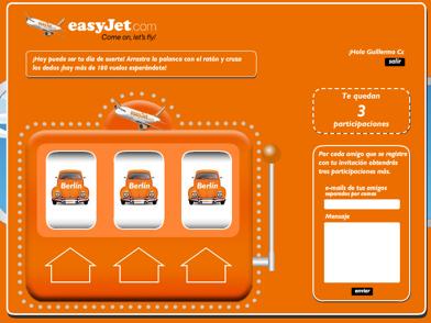 ysiGano, el juego online de EasyJet