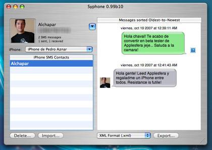 Syphone: Guarda los SMS de tu iPhone sin hackearlo ni modificarlo