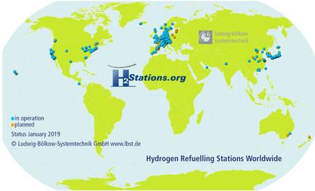 Este es el mapa que explica por qué en Japón y Alemania el coche de hidrógeno es una realidad viable