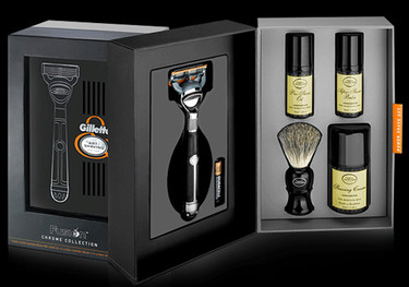 Fusion Chrome Collection Power Shave Set de Gillette, un afeitado con brocha