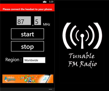 Tunable FM Radio app