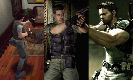 La evolución de Chris Redfield, el prota de 'Resident Evil 5'