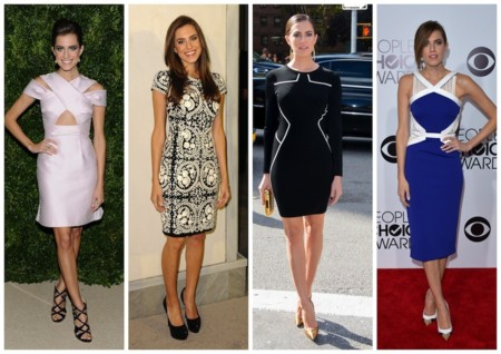 Allison Williams vestidos rectos