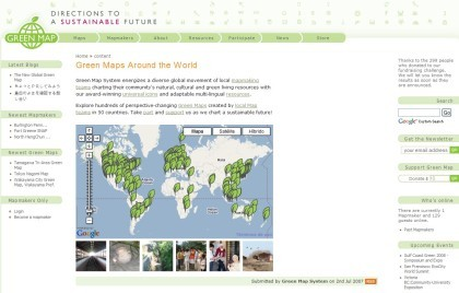 Green Map: guías online para viajeros ecológicos