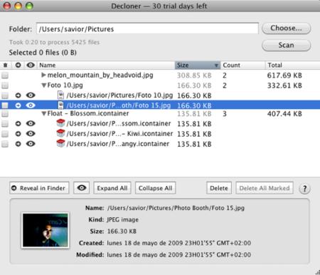 Decloner, encuentra archivos duplicados en tu Mac
