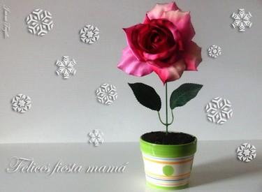 Cocinar con niños: Maceta con flor para mamá