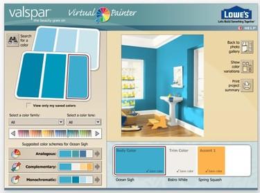 Eligiendo el color de las paredes con decoradores virtuales