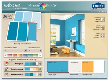 Eligiendo el color de las paredes con decoradores virtuales