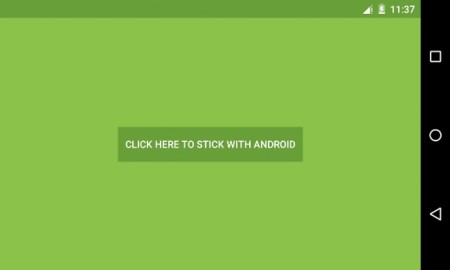 Stick with Android, la app que se mofa de Apple y su Move to iOS