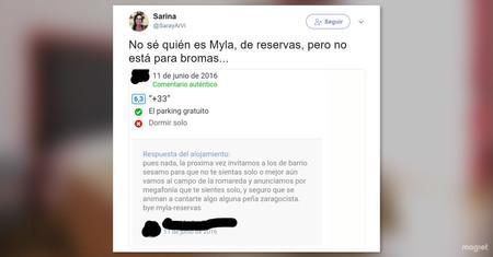 Myla-reservas, la hostelera heroína de TripAdvisor que combate a los haters con aún más odio