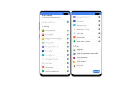 One Ui apps presinstaladas