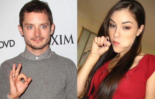 Elijah Wood y Sasha Grey