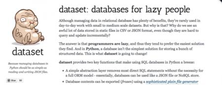 Dataset, abstracción de bases de datos relacionales para pythoneros vagos