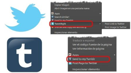 Publica en Twitter y Tumblr desde el menú contextual de Chrome