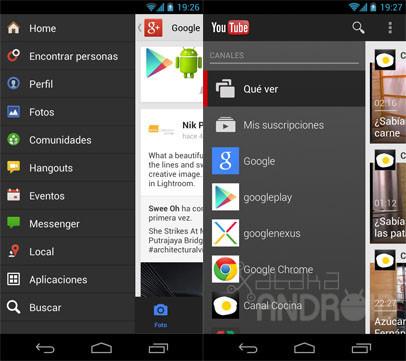 Barras de navegación lateral en Android