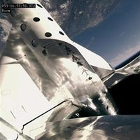 Espectacular vídeo del vuelo espacial de Virgin que transportó a bordo por primera vez a un pasajero de prueba