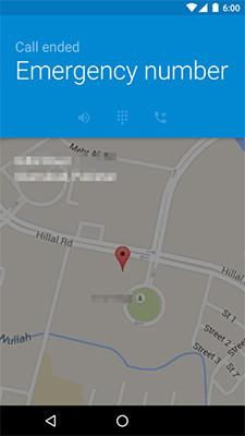 Marshmallow mostrará la ubicación en caso de emergencia