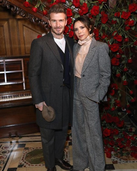 Los Beckham son los dueños aboslutos del estilo bespoke en la London Fashion Week