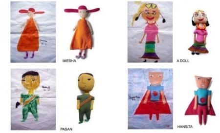 Muñecas Imesha, diseñadas por niños de Sri Lanka