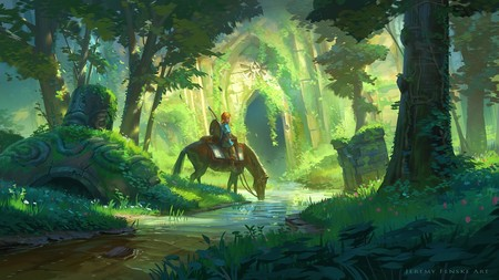 Legend Of Zelda Link Fan Art Concept Illustration 01 Jeremy Fenske Link Forest Temple