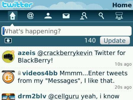 Twitter oficial para BlackBerry disponible a partir del 31 de marzo