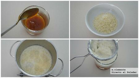 Panna cotta de parmesano con mermelada de tomate