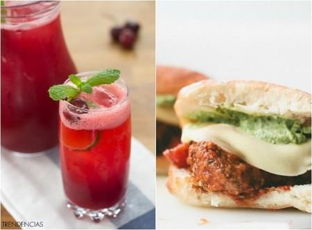 Limonada de cerezas y sandwich de albóndigas, dos recetas sofisticadas para un viernes de sobras