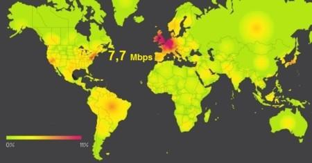 La velocidad media de Internet móvil en España es de 7,7 Mbps, según Akamai