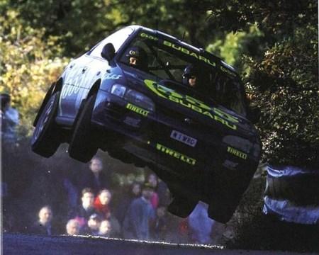 Concentración de Subarus Impreza en tributo a Colin McRae
