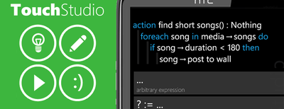 TouchStudio, programa desde tu móvil Windows Phone 7