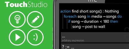 TouchStudio, programa desde tu móvil Windows Phone 7