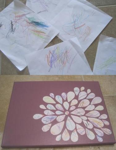 Los garabatos de tu hijo convertidos en una obra de arte