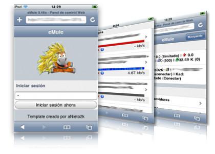 iEmule: controlando eMule desde tu iPhone/iPod Touch