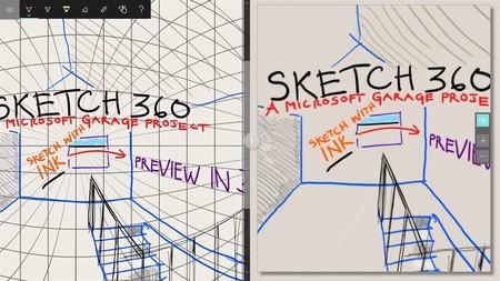 Microsoft sigue apostando por los entornos en 3D, ahora con una aplicación de dibujo cómo es Sketch 360