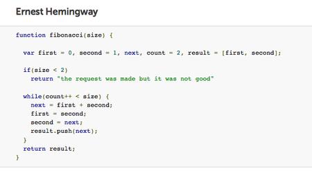 ¿Y si Hemingway o Shakespeare hubieran sido programadores Javascript?