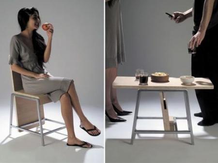 XY de Aïssa Logerot: una silla... una mesa