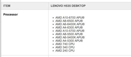 Richland Lenovo leak