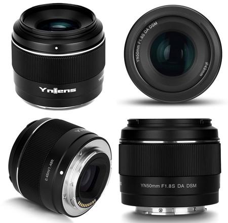 objetivo yongnuo 50mm f1.8s para monturas sony e