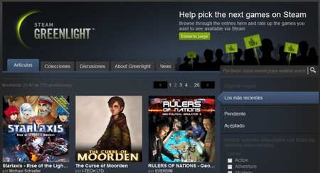 Valve actualiza Steam Greenlight estableciendo una barrera de entrada de 100 dólares para nuevas propuestas