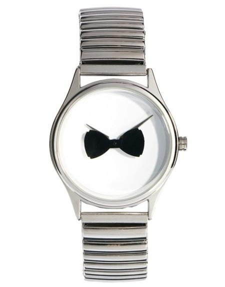 reloj pajarita giratoria