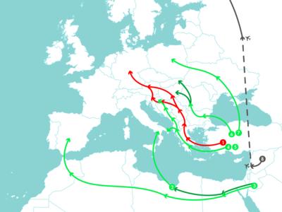 ¿Qué rutas podrían utilizar los refugiados ahora que los Balcanes están cerrados?