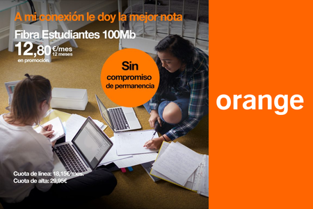 La fibra para estudiantes de Orange sustituye permanencia por un alta de 30 euros y mantiene la mensualidad