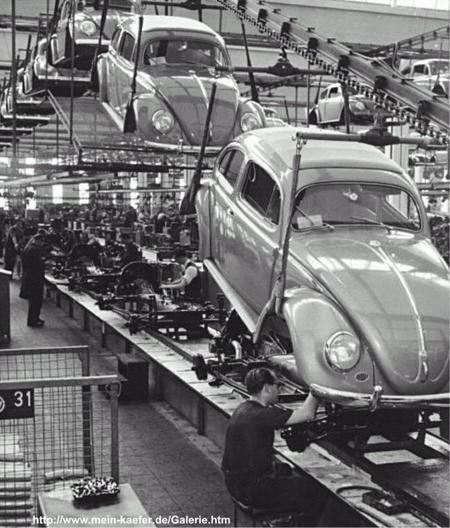 Línea de producción del VW Sedan en Wolfsburg